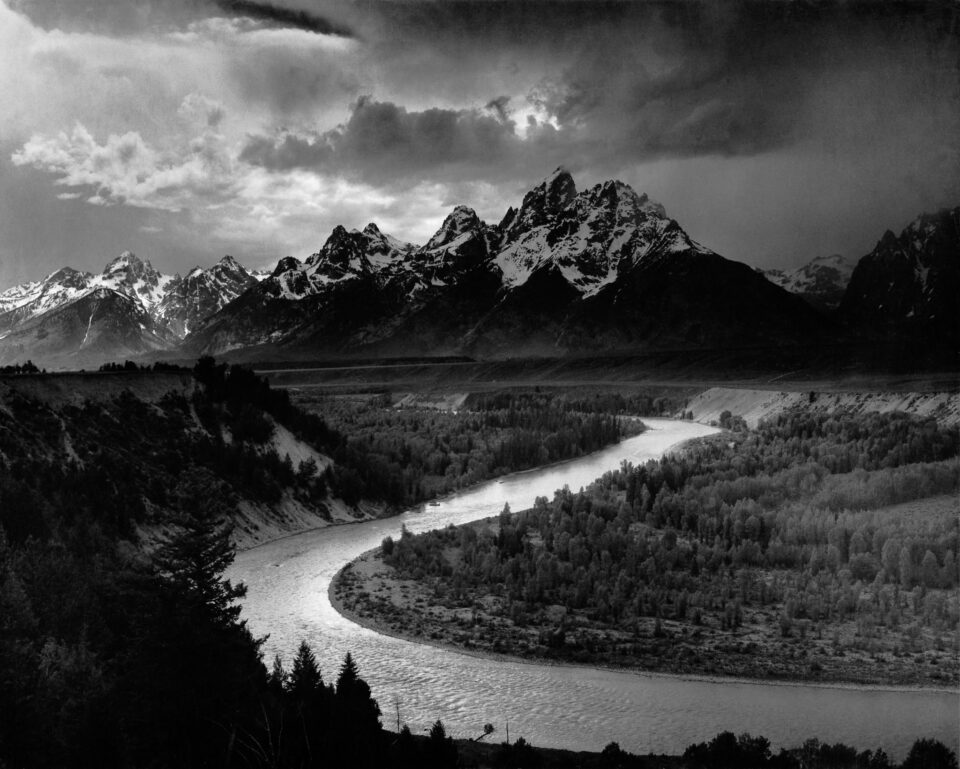 """""""Tetons and the Snake River"""" ، اثر انسل آدامز"""